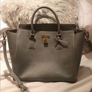 Angela roi gray leather bag